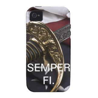 Caso de Semper Fi IPhone Case-Mate iPhone 4 Carcasa