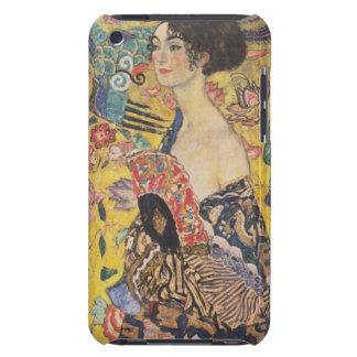 Caso de señora With Fan iPod de Gustavo Klimt Funda Para iPod De Case-Mate