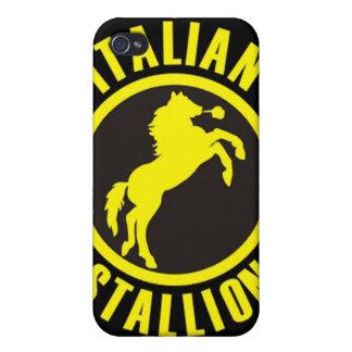Caso de Shell duro cabido semental italiano para A iPhone 4 Carcasa