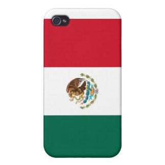 Caso de Shell duro de la bandera mexicana para el  iPhone 4 Funda