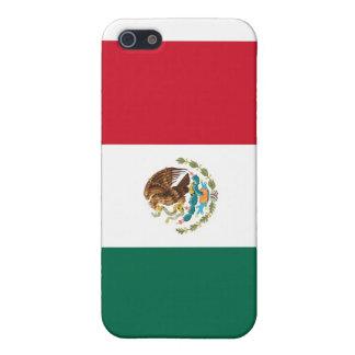 Caso de Shell duro de la bandera mexicana para el  iPhone 5 Fundas