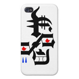 Caso de Shell duro de la cara abstracta para el iPhone 4 Carcasa