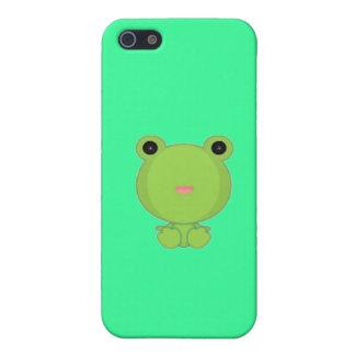 Caso de Shell duro de la rana de Kawaii para el iP iPhone 5 Carcasa