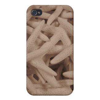Caso de Shell duro de las estrellas de mar para el iPhone 4/4S Carcasa