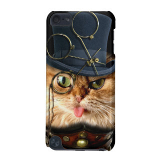 Caso de Shell duro del gato de Steampunk para el t Funda Para iPod Touch 5G