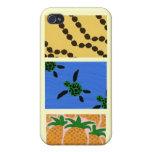 Caso de Shell duro del iPhone 4 hawaianos del arte iPhone 4 Fundas