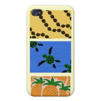 Caso de Shell duro del iPhone 4 hawaianos del arte iPhone 4/4S Fundas