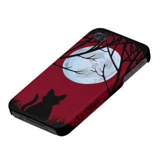 Caso de Smartphone del amante del gato del caso de iPhone 4 Protectores