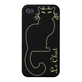 Caso de Smartphone del amante del gato del caso de iPhone 4/4S Fundas
