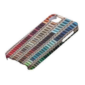 Caso de Smartphone del hilo de coser iPhone 5 Protectores