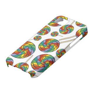 Caso de Smartphone del Lollipop del arco iris iPhone 5 Carcasas