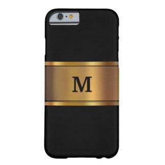 Caso de Smartphone del monograma de los hombres Funda De iPhone 6 Barely There