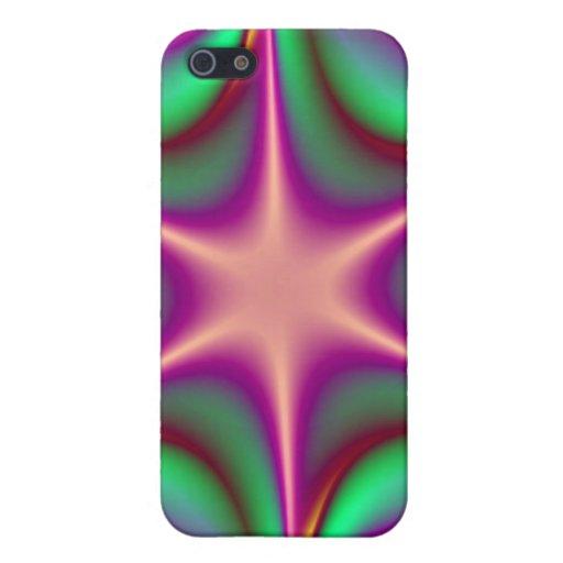 Caso de Starflower Iphone 4/4S del fractal del arc iPhone 5 Carcasa