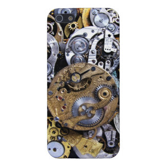 Caso de Steampunk iphone5 de los relojes de bolsil iPhone 5 Funda