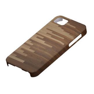 Caso de suelo de parqué iPhone 5 carcasa