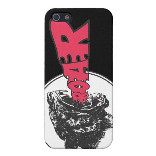 Caso de tigre del rugido para su iPhone 4 iPhone 5 Carcasa