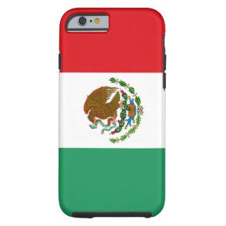 Caso de Tough™ del iPhone 6 de la bandera mexicana Funda De iPhone 6 Tough