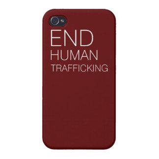 Caso de tráfico humano de Iphone 4 del final iPhone 4/4S Funda