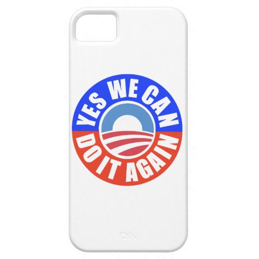 Caso de YesWeCan DoItAgain Obama Iphone5 iPhone 5 Protectores
