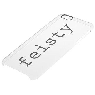Caso decidido funda clearly™ deflector para iPhone 6 plus de unc
