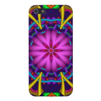 Caso decorativo del caleidoscopio con la flor romá iPhone 5 fundas