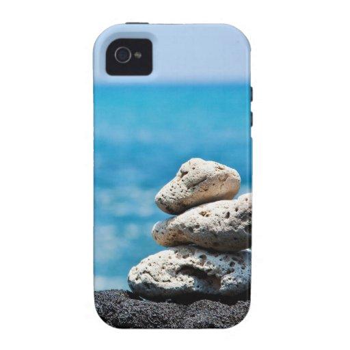 Caso del ambiente de IPhone 4 - línea de la playa  Case-Mate iPhone 4 Funda