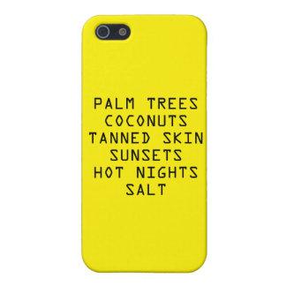 Caso del ambiente de la playa iPhone 5 funda