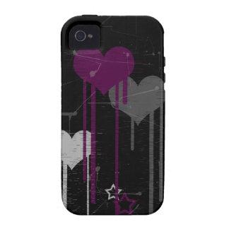 Caso del ambiente del iPhone 4 4s de los corazones Case-Mate iPhone 4 Funda