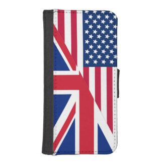 Caso del americano y de la cartera del iPhone 5 de Funda Billetera Para Teléfono