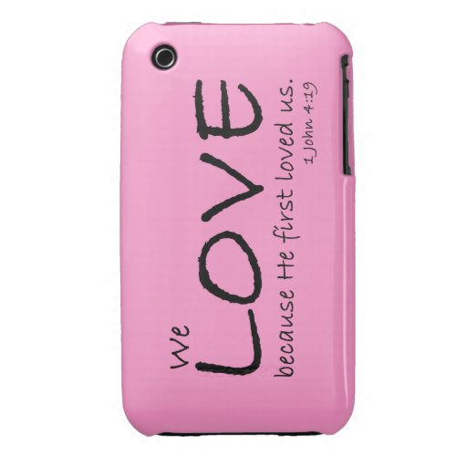 Caso del amor (1 4:19 de Juan) iPhone 3 Case-Mate Carcasas