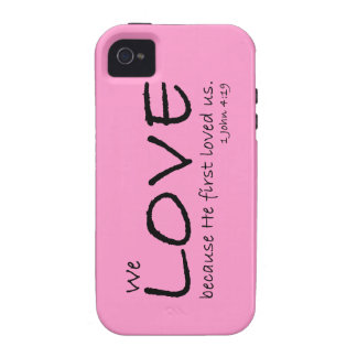 Caso del amor (1 4:19 de Juan) Funda Case-Mate Para iPhone 4