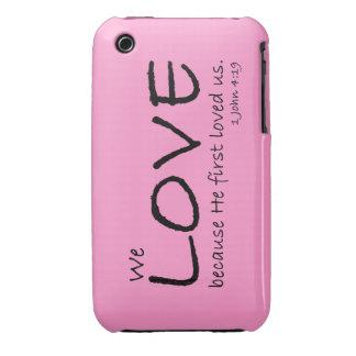 Caso del amor (1 4:19 de Juan) Funda Para iPhone 3 De Case-Mate