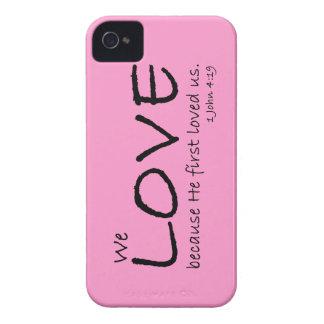 Caso del amor (1 4:19 de Juan) Funda Para iPhone 4 De Case-Mate
