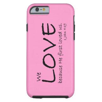 Caso del amor (1 4:19 de Juan) Funda Resistente iPhone 6