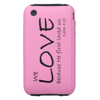 Caso del amor (1 4:19 de Juan) Funda Though Para iPhone 3