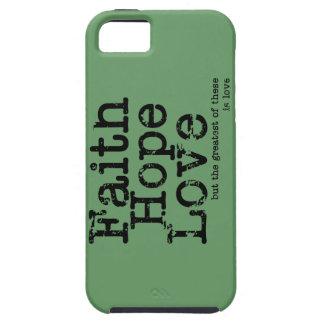 Caso del amor de la esperanza de la fe del vintage iPhone 5 funda