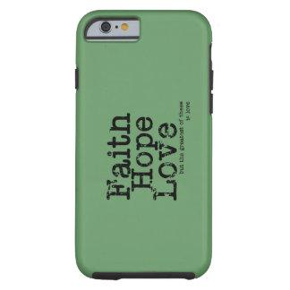 Caso del amor de la esperanza de la fe del vintage funda de iPhone 6 tough