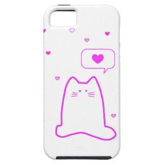 Caso del amor del gato iPhone 5 funda