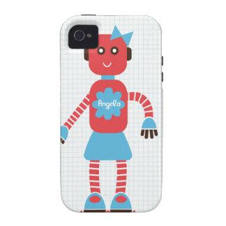 Caso del amor del robot (el suyo) para los pares Case-Mate iPhone 4 fundas