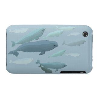 Caso del arte de la ballena del caso del iPhone 3 Case-Mate iPhone 3 Fundas