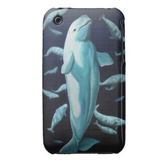 Caso del arte de la ballena del caso del iPhone 3 Case-Mate iPhone 3 Protectores