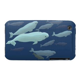 Caso del arte de la ballena del caso del iPhone 3 iPhone 3 Cárcasa