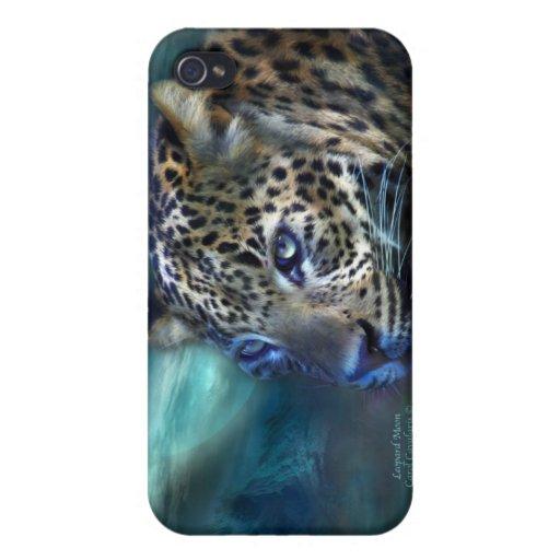 Caso del arte de la luna del leopardo para el iPho iPhone 4 Protector