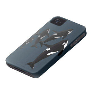 Caso del arte de la orca del caso del iPhone 4 de iPhone 4 Case-Mate Protector
