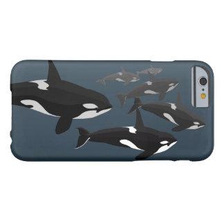 Caso del arte de la orca del caso del iPhone 6 de Funda Para iPhone 6 Barely There
