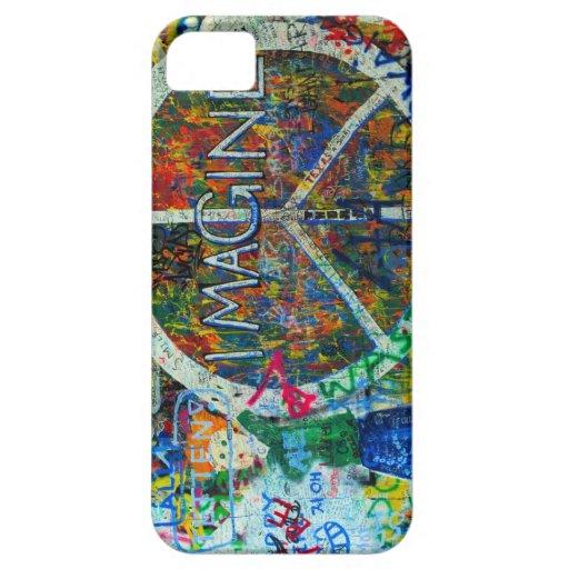 Caso del arte de la pared iPhone 5 Case-Mate protectores