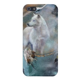 Caso del arte de los lobos del alcohol para iPhone iPhone 5 Funda