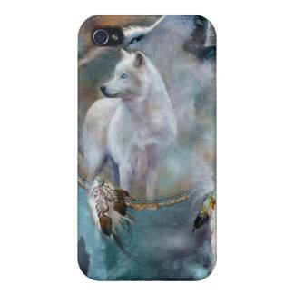 Caso del arte de los lobos del alcohol para iPhone iPhone 4 Protectores