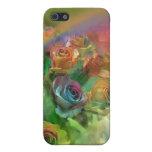 Caso del arte de los rosas del arco iris para el i iPhone 5 cárcasas