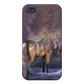 Caso del arte del Amanecer-Caballo de la lavanda p iPhone 4 Carcasa